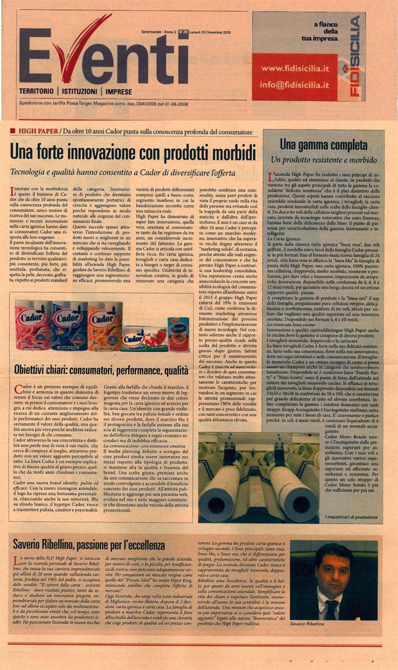 eventi-rivista 2-high-paper-cador-produzione-carta-igienica-asciugatutto-tovaglioli-miglionico-matera-basilicata